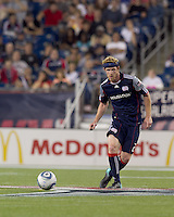 New England Revolution midfielder Pat Phelan (28) at midfield. The New England Revolution tied Columbus Crew, 2-2, at Gillette Stadium on September 25, 2010.