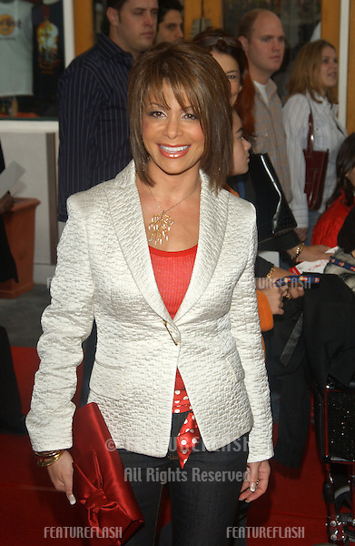 Singer PAULA ABDUL at the world premiere, in Hollywood, of Dr. Suess' The Cat in the Hat..November 8, 2003