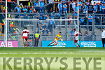 Paddy Quigg Derry scores a goal from a penalty in the All-Ireland Minor Footballl Final in Croke Park on Sunday.