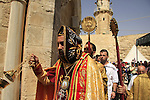 Israel, Jerusalem, Syrian Orthodox Ascension Day ceremony at the Ascension Chapel on the Mount of Olives