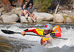May 30, 2016 - Buena Vista, Colorado, U.S. -  Team Jackson freestyle kayaker, Nick Troutman, competes in the Men's Freestyle Kayak competition during the CKS Paddlefest, one of the Rocky Mountain Region's first adventure events of the summer in Buena Vista, Colorado.
