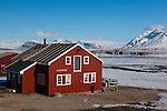 Mellageret Kafe, the bar at the international scientific research base of Ny Alesund, Svalbard.
