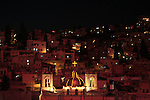 Israel, Lower Galilee, Nazareth at night