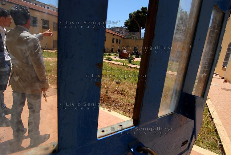 Palermo / Italia <br /> Un momento della visita del Garante per i minori dott.Vincenzo Spadafora al Carcere 'Malaspina' -  Istituto penale per minorenni.<br /> Foto Livio Senigalliesi