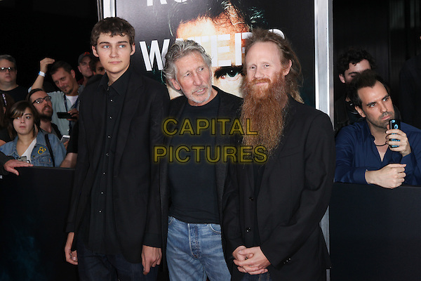 NEW YORK, NY - SEPTEMBER 28: Jack Fletcher, Roger Waters and Harry Waters at the premiere of Roger Waters The Wall at The Ziegfeld Theater in New York City on September 28, 2015. <br /> CAP/MPI/COR<br /> &copy;COR/MPI/Capital Pictures