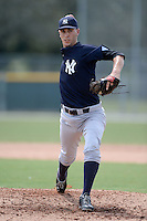 New York Yankees pitcher Andy Beresford (54) during an Instructional League game against the Pittsburgh Pirates on September 18, 2014 at the Pirate City in Bradenton, Florida.  (Mike Janes/Four Seam Images)
