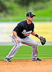 2 March 2010: Atlanta Braves shortstop Brandon Hicks in action against the New York Mets during the Opening Day of Grapefruit League play at Tradition Field in Port St. Lucie, Florida. The Mets defeated the Braves 4-2 in Spring Training action. Mandatory Credit: Ed Wolfstein Photo