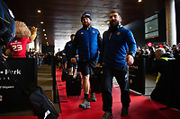 Tom Dunn, Jameson Mola and the rest of the Bath Rugby team arrive at the Stade Ernest Wallon. Heineken Champions Cup match, between Stade Toulousain and Bath Rugby on January 20, 2019 at the Stade Ernest Wallon in Toulouse, France. Photo by: Patrick Khachfe / Onside Images