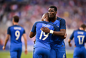 June 13th 2017, Stade de France, Paris, France; International football friendly, France versus England;  Djibril Sidibe (fra) celebrates scoring in the 43rd minute for 2-1 with PAUL POGBA (fra)