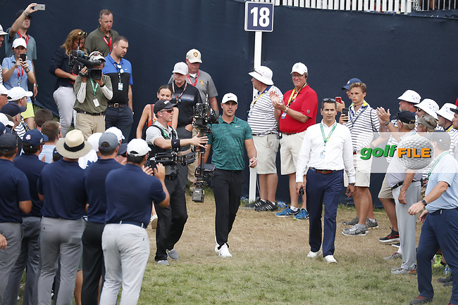 Brooks Koepka (USA) walks to the trophy presentation after winning the 100th PGA Championship at Bellerive Country Club, St. Louis, Missouri, USA. 8/12/2018.<br /> Picture: Golffile.ie   Brian Spurlock<br /> <br /> All photo usage must carry mandatory copyright credit (© Golffile   Brian Spurlock)