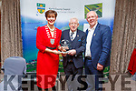 Liam Brassil of the Friends Of Kerry University Hospital received their Kerry County Council and Municipal District Awards at the ceremony in the Rose Hotel on Thursday night. L to r: Cllr Norma Foley (Cathaoirleach Kerry Co Council), Liam and John Brassil TD
