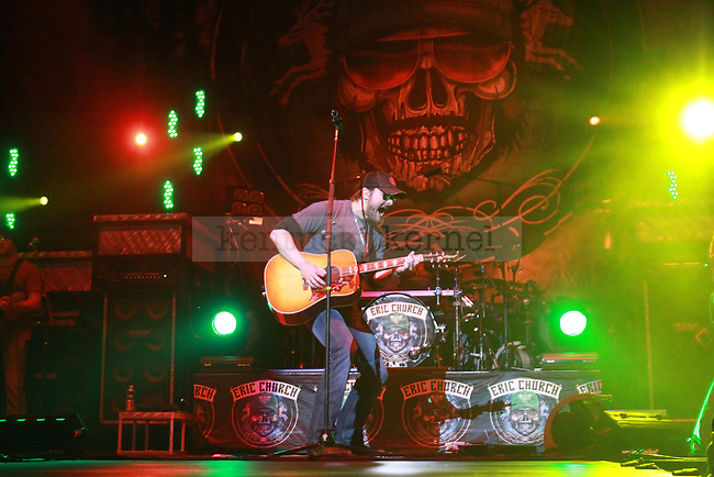 "Eric Church and performs in Rupp Arena as a part of the ""My Kinda Party"" tour on Friday night, March 4, 2011. Photo by Scott Hannigan 