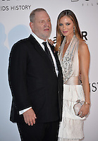 Harvey Weinstein &amp; wife Georgina Simpson at the amfAR Cinema Against AIDS Gala 2016 at the Hotel du Cap d'Antibes.<br /> May 19, 2016  Antibes, France<br /> Picture: Paul Smith / Featureflash