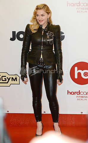"""Madonna attending the """"Hard Candy Fitness"""" event in Berlin, Germany, 17.10.2013. <br /> Photo by Janne Tervonen/insight media <br /> Photo by Janne Tervonen/insight media /MediaPunch Inc. ***FOR USA ONLY***"""