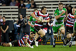 Mark Selwyn heads for the tryline. ITM Cup rugby game between Counties Manukau and Manawatu played at Bayer Growers Stadium on Saturday August 21st 2010..Counties Manukau won 35 - 14 after leading 14 - 7 at halftime.