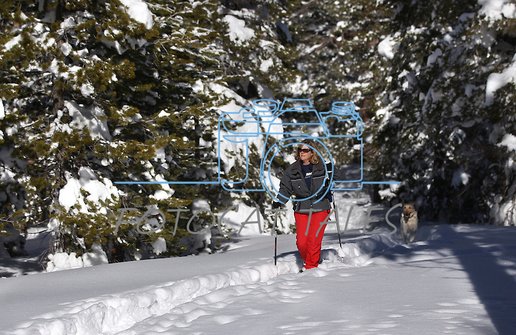 Snowshoeing in Hope Valley, Ca., on Monday, Dec. 31, 2012. .Photo by Cathleen Allison