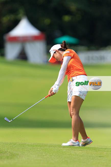 Chella Choi (KOR) on the 1st fairway during Round 4 of the HSBC Women's Champions at the Sentosa Golf Club, The Serapong Course in Singapore on Sunday 8th March 2015.<br /> Picture:  Thos Caffrey / www.golffile.ie