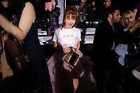 NEW YORK, NY - FEBRUARY 10: A guest attends the show of Lanyu during New York Fashion Week on February 10, 2019 in  New York.   (Photo by Kena Betancur/VIEWpress)