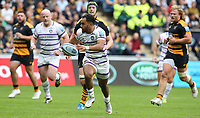 Leicester Tigers' Telusa Veainu breks clear to score his side's second try<br /> <br /> Photographer Stephen White/CameraSport<br /> <br /> Gallagher Premiership - Wasps v Leicester Tigers - Sunday 16th September 2018 - Ricoh Arena - Coventry<br /> <br /> World Copyright &copy; 2018 CameraSport. All rights reserved. 43 Linden Ave. Countesthorpe. Leicester. England. LE8 5PG - Tel: +44 (0) 116 277 4147 - admin@camerasport.com - www.camerasport.com