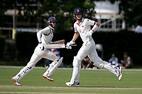 Ben Allison (R) and Will Buttleman add to the Brentwood total during Brentwood CC vs Wanstead and Snaresbrook CC, Essex Cricket League Cricket at The Old County Ground on 12th September 2020