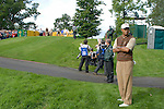 Tiger Woods waits for his team mates to tee off on the 13th hole during Practice Day2 the 2006 Ryder Cup at The K Club 21st September 2006..Photo: Eoin Clarke/Newsfile.