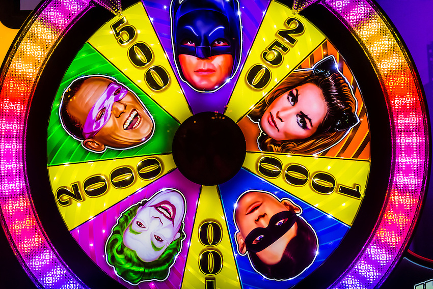 Batman slot machine, Downtown Grand Casino, Downtown Las Vegas, Nevada USA.