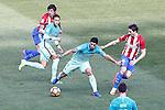 Atletico de Madrid's Stefan Savic (l) and Sime Vrsaljko (r) and FC Barcelona's Neymar Santos Jr (c-l) and Luis Suarez during La Liga match. February 26,2017. (ALTERPHOTOS/Acero)