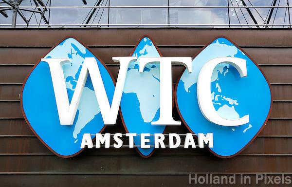 Nederland Amsterdam  2016 04 09 . Logo op het World Trade Center.   Foto Berlinda van Dam / Hollandse Hoogte