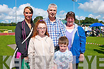 Having great fun at the dog show in Castleisland last Saturday afternoon were Lauren,Ryan,Emer,Pat and Penny Hayes from Tralee.