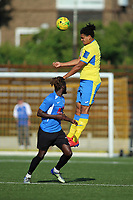 Coby Rowe of Haringey during Haringey Borough vs Herne Bay, Emirates FA Cup Football at Coles Park Stadium on 7th September 2019