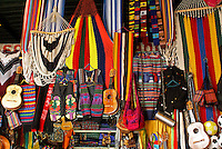 Salvadoran handicrafts for sale in the Excuartel Market in downtown San Salvador, El Salvador