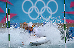 LONDON, ENGLAND - JULY 29:  Siberis Tasiadis of Germany competes in the Men's Canoe Slalom Prelims during Day 3 of the London 2012 Olympic Games on July 29, 2012 at the Lee Valley White Water Center Center in Hertfordshire, England. (Photo by Donald Miralle)