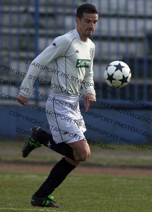SPORT FUDBAL OFK BEOGRAD PARTIZAN 13.03.2004. Mirkovic FOTO: Pedja Milosavljevic<br />