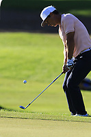 Thorbjorn Olesen (DEN) chips onto the 16th green during Friday's Round 2 of the 2018 Turkish Airlines Open hosted by Regnum Carya Golf &amp; Spa Resort, Antalya, Turkey. 2nd November 2018.<br /> Picture: Eoin Clarke | Golffile<br /> <br /> <br /> All photos usage must carry mandatory copyright credit (&copy; Golffile | Eoin Clarke)
