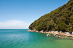New Zealand South Island, scenic view along the coast in Abel Tasman National Park. Photo copyright  Lee Foster.