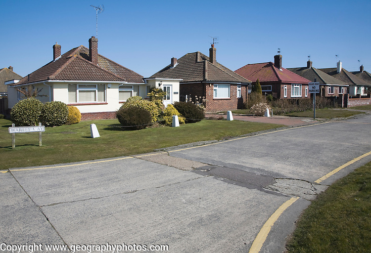 Warley Way Bungalow private owner occupied housing at Frinton on Sea, Essex, England