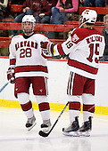 Chris Huxley (Harvard - 28) was announced as a starter. - The St. Lawrence University Saints defeated the Harvard University Crimson 3-2 on Friday, November 20, 2009, at the Bright Hockey Center in Cambridge, Massachusetts.