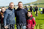 Pictured at Gallarus GAA pitch on Saturday morning last, to meet the cast of Top Gear were l-r: Mike Tony and Gerard O'Shea, Tralee.