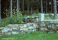 HF01-023x  Stone wall, garden