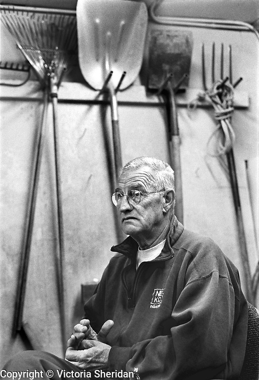67 year old Park Caretaker Abney Pops. Part of the Face of Labor portrait series. 1999 (Photo/Victoria Sheridan)