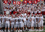 29 September  2007:  Oklahoma players prior to the #3 ranked Sooners upset loss to the Colorado Buffalos at Folsom Field, Boulder, Colorado.