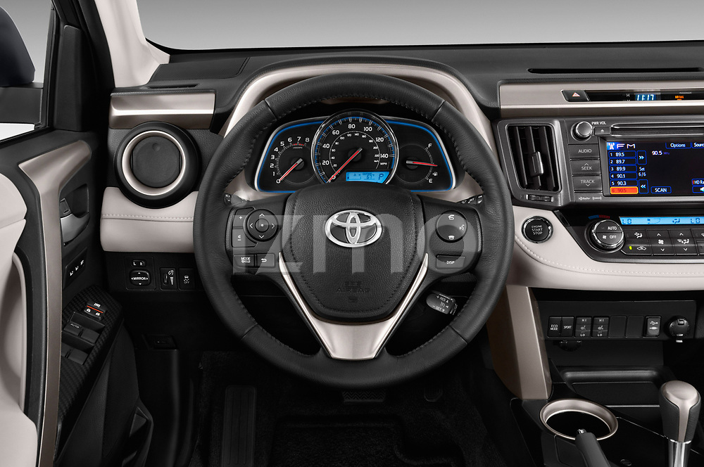 Car pictures of steering wheel view of a 2013 Toyota rav4 limited Select Doors Door SUV