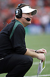 12/04/10-- Oregon head football coach Chip Kelly watches his offense in the second half of the Civil War game at Reser Stadium in Corvallis, Or..Photo by Jaime Valdez