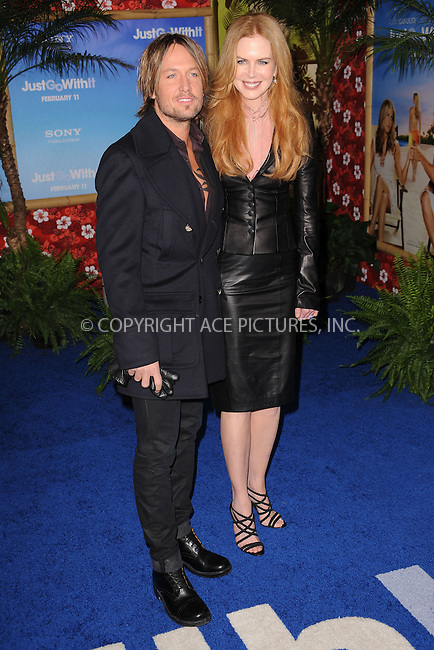 WWW.ACEPIXS.COM . . . . . .February 8, 2011...New York City... Keith Urban and Nicole Kidman attend the premiere of Just Go With It at the Ziegfeld Theater on February 8, 2011 in New York City....Please byline: KRISTIN CALLAHAN - ACEPIXS.COM.. . . . . . ..Ace Pictures, Inc: ..tel: (212) 243 8787 or (646) 769 0430..e-mail: info@acepixs.com..web: http://www.acepixs.com .