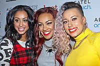8th December 2012: English Pop group Stooshe appear at Clothes Show Live 2012 at the NEC, Birmingham, UK (L-R) Alexandra Bugg, Karis Anderson, Courtney Rumbold