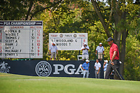 Tiger Woods (USA) approaches the green on 9 during 4th round of the 100th PGA Championship at Bellerive Country Club, St. Louis, Missouri. 8/12/2018.<br /> Picture: Golffile | Ken Murray<br /> <br /> All photo usage must carry mandatory copyright credit (&copy; Golffile | Ken Murray)