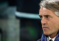 Calcio, semifinali di andata di Coppa Italia: Juventus vs Inter. Torino, Juventus Stadium, 27 gennaio 2016. <br /> FC Inter's coach Roberto Mancini arrives for the Italian Cup semifinal first leg football match between Juventus and FC Inter at Juventus stadium, 27 January 2016.<br /> UPDATE IMAGES PRESS/Isabella Bonotto
