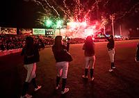 Águilas Cibaeñas de Republica Dominicana, gana su pase a la final de la Serie del Caribe al ganar a  Alazanes de Gamma de Cuba, durante la Serie del Caribe en estadio Panamericano en Guadalajara, México, Miércoles 7 feb 2018.  (Foto: AP/Luis Gutierrez)