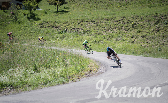 Michal Kwiatkowski (POL/SKY) descending the Col de la Colombi&egrave;re<br /> <br /> 69th Crit&eacute;rium du Dauphin&eacute; 2017<br /> Stage 8: Albertville &gt; Plateau de Solaison (115km)