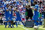 (L-R) Getafe CF's Jorge Molina, Dimitri Foulquier and Damian Suarez during La Liga match. May 05,2019. (ALTERPHOTOS/Alconada)